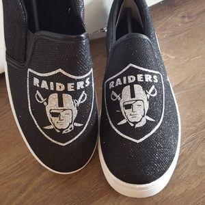Raiders GLITTER slip on shoes